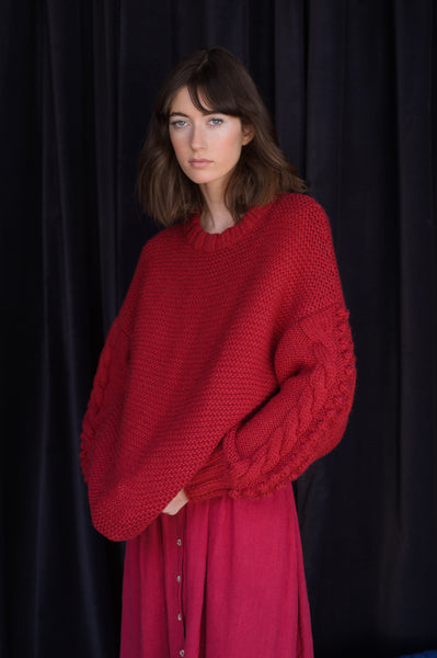 Bella Sweater- Cranberry