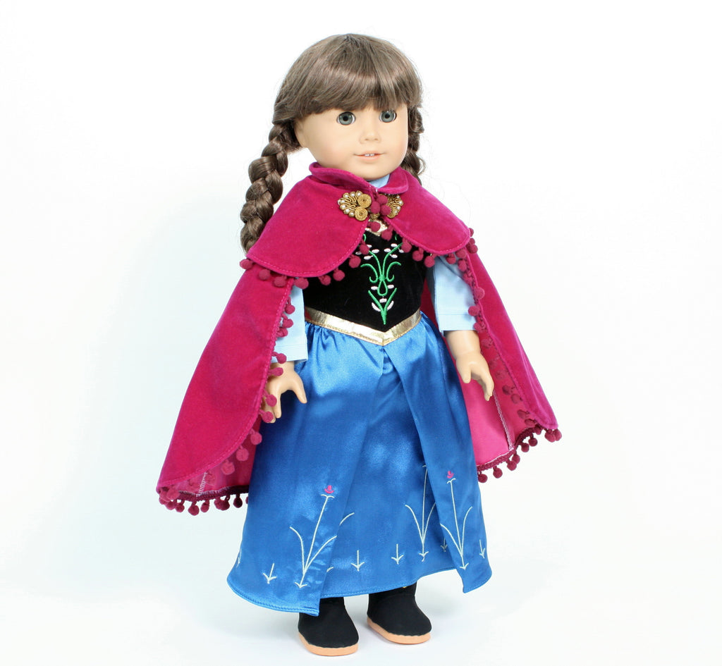 Anna Frozen Dress with Cape