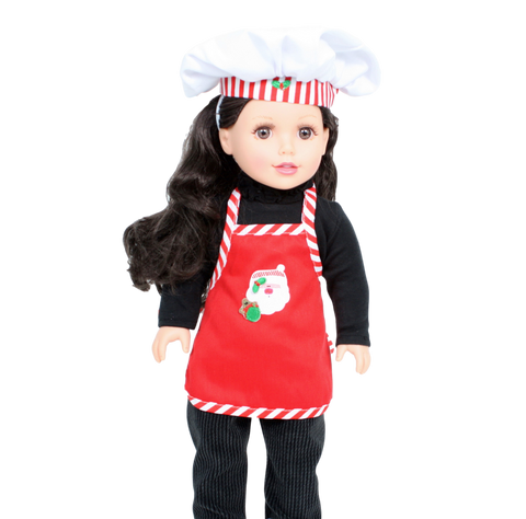 Christmas Apron with Chef Hat