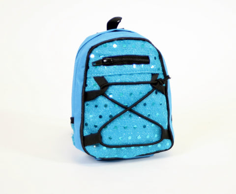 Backpack Blue Sequins