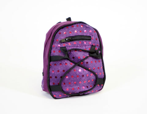 Backpack Purple Sequins