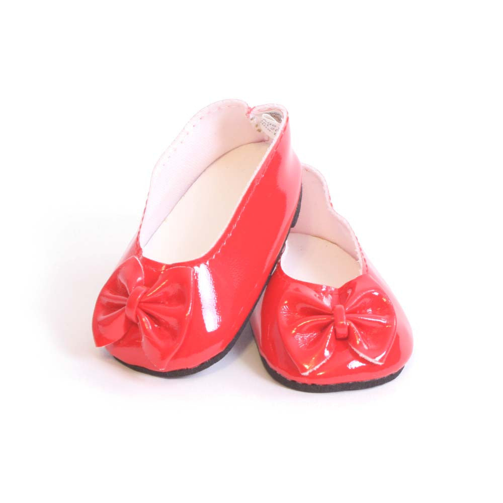 Red Ballet Flats w/ Bow