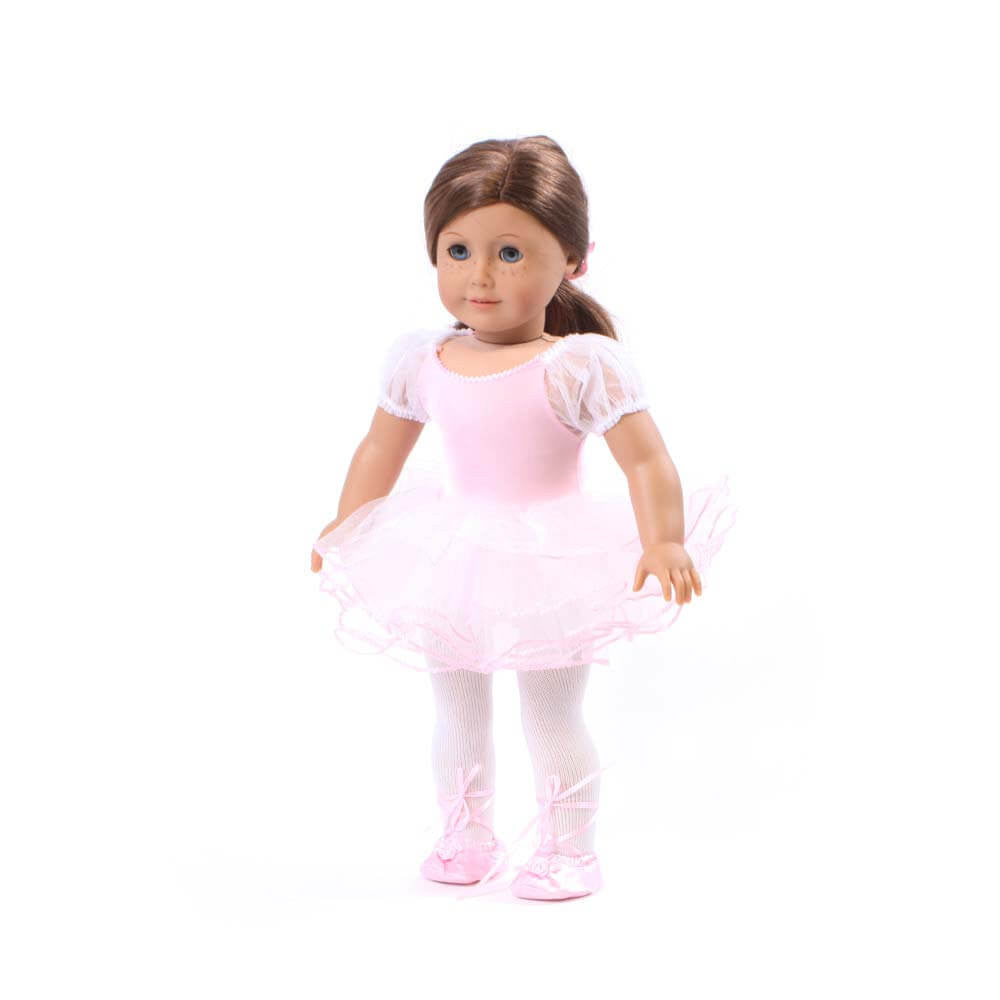 8dd67f2b9d29 Pink 2-piece Ballet Outfit for 18 Inch American Girl Doll Clothes ...