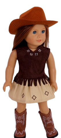 Brown Cowgirl Skirt Set