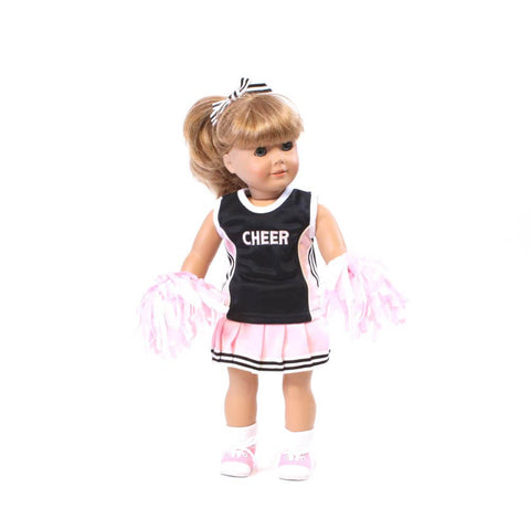 Pink and Black Cheerleader Outfit