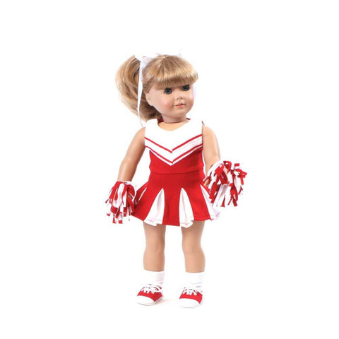 "Red Cheerleader Outfit for 18"" doll"