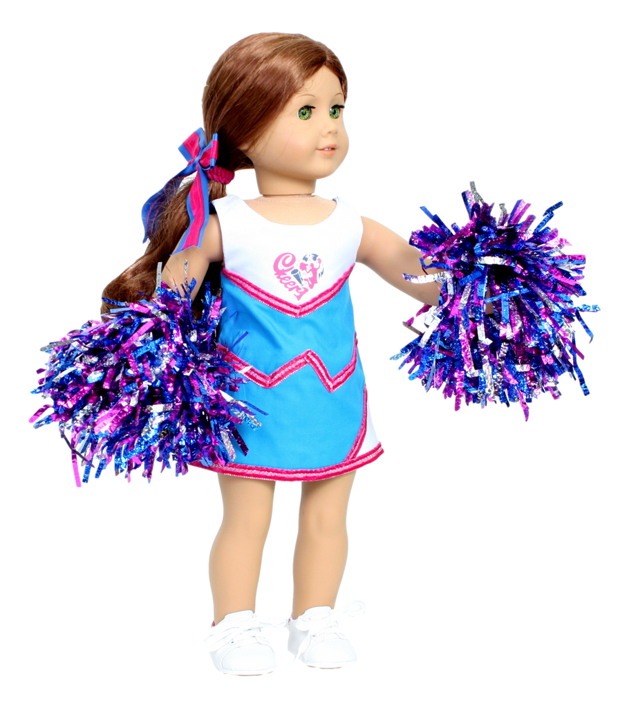 Blue and Pink Cheerleader Outfit