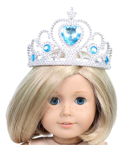 Princess Crown with Blue Gemstones