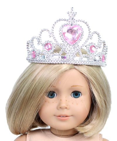 Princess Crown with Pink Gemstones