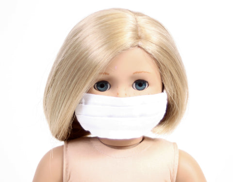 White Face Mask for Dolls