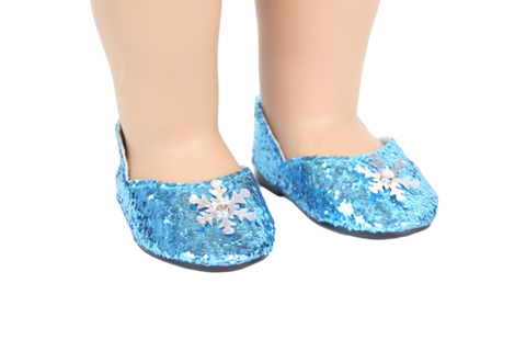 Blue Glitter Frozen Shoes
