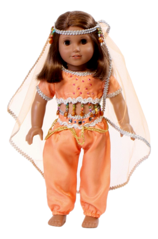 Light Orange Jasmine Genie Outfit