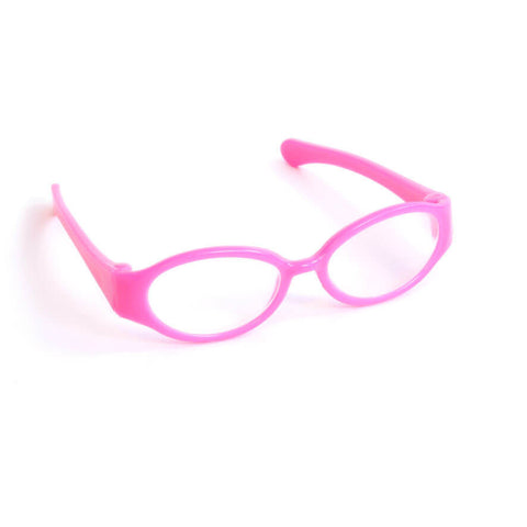 Pink Plastic Frame Doll Glasses