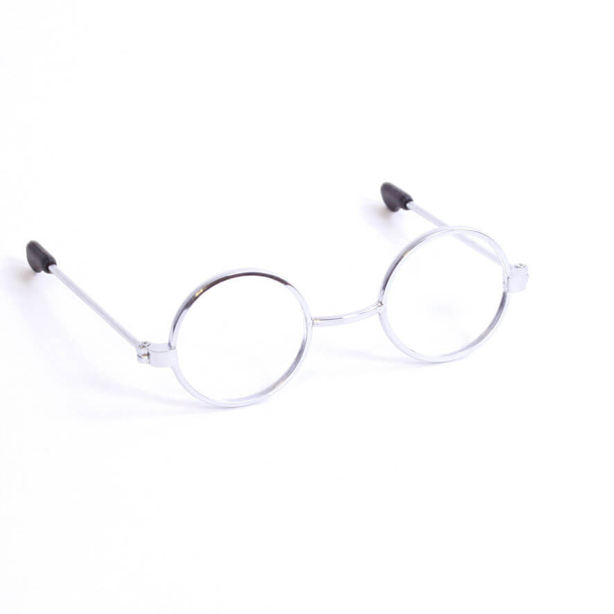 Round Silver Wire-Rimmed Glasses