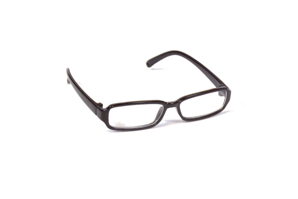 Black Rectangle Plastic Frame Glasses
