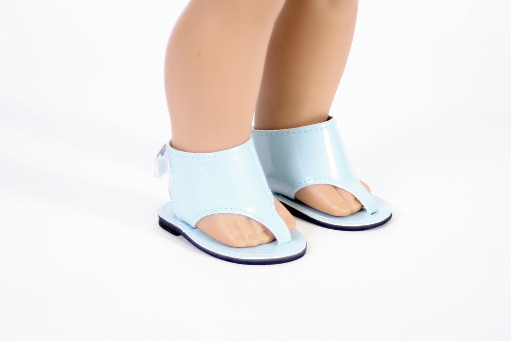 Greek Sandals Light Blue Shoes