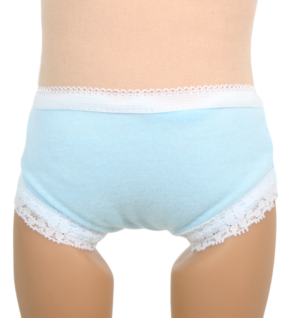 Blue Panties with White Lace