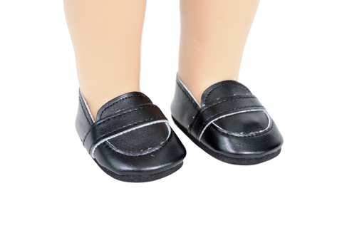 Black Slip-on Loafers Shoes
