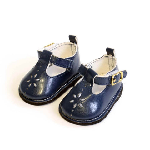 Blue Mary Janes w/ Flower Cutout