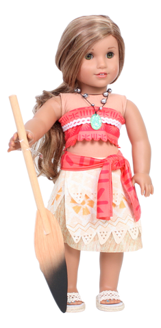 Moana Outfit with Paddle