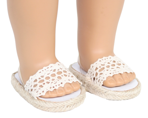 Crocheted Lace Sandals