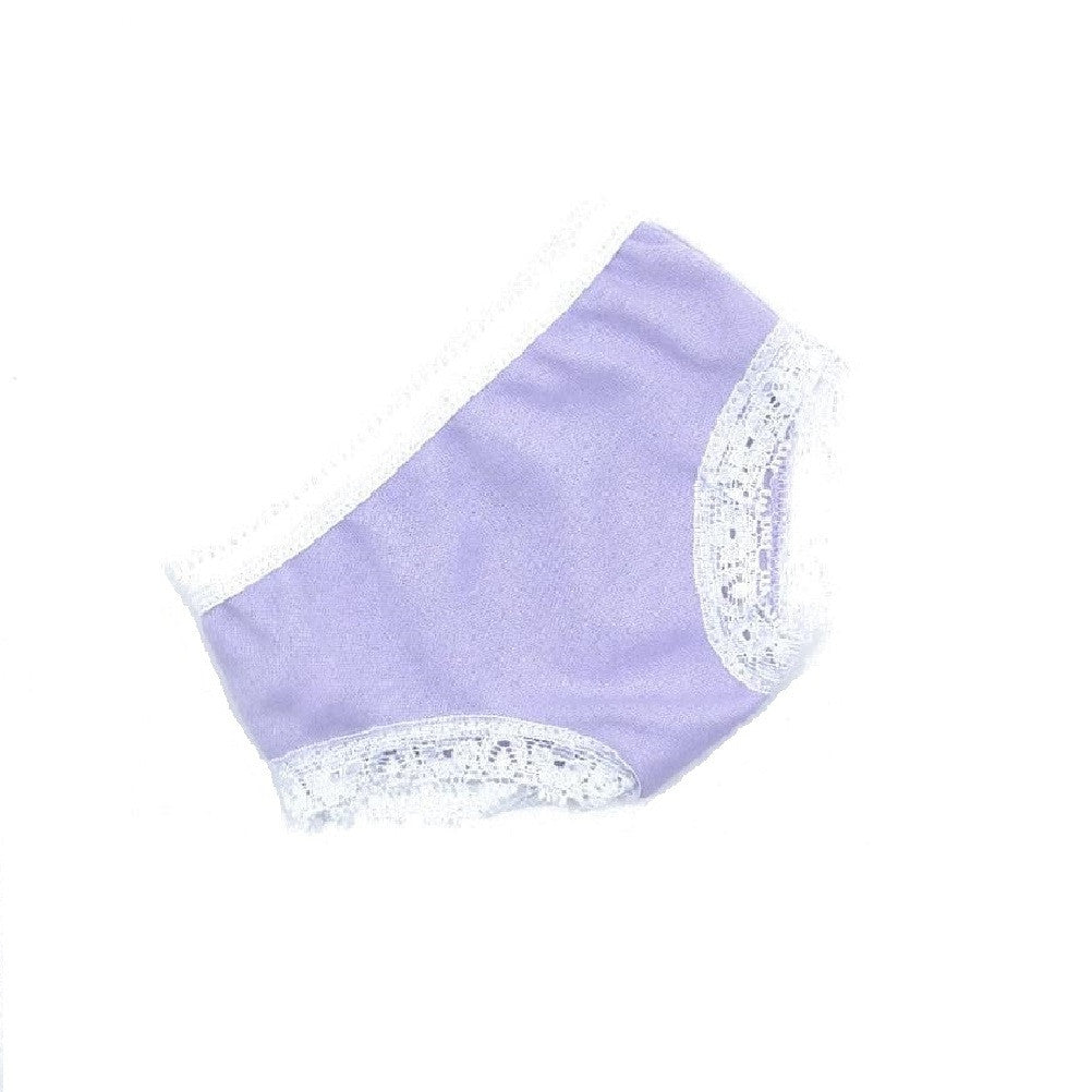 Lavender Panties with White Lace