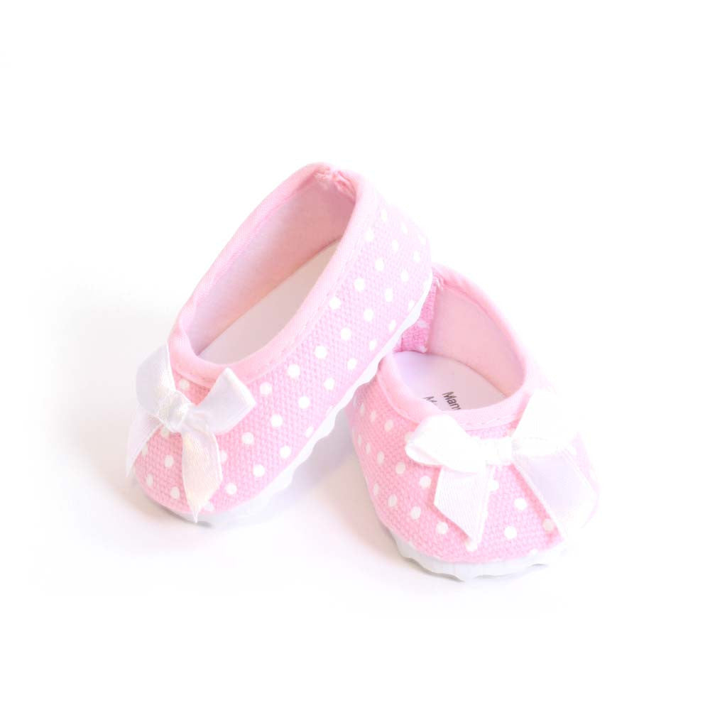 af6a4d6210f1 Pink Polka-Dot Ballet Flats for 18 Inch American Girl Doll Clothes –  EverEighteen