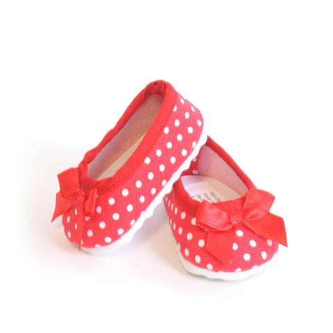 Red Polka-Dot Ballet Flats