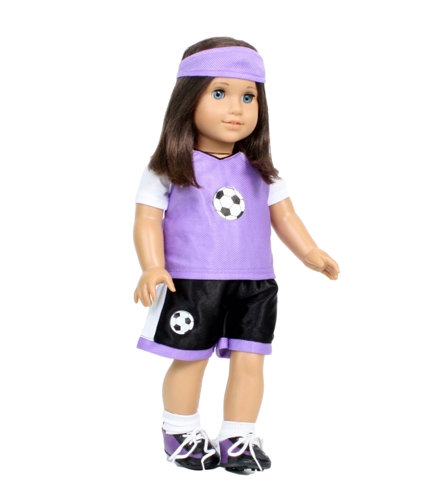 Purple Soccer 5 piece Outfit
