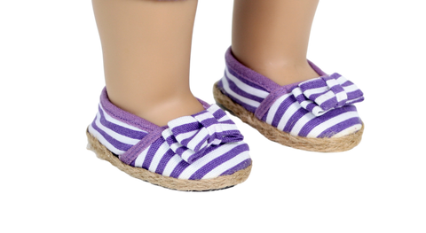 Purple Stripe Espadrilles Shoe