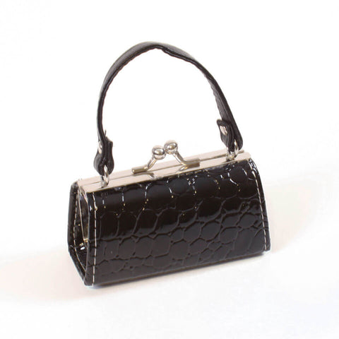Black Crocodile Embossed Purse