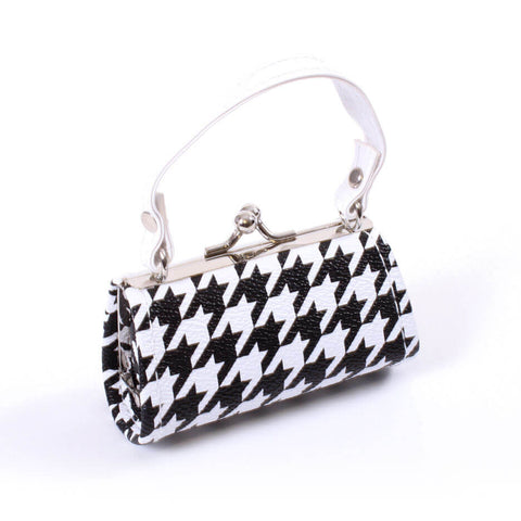 Black and White Houndstooth Purse
