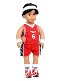 Red Basketball Outfit (7 Piece)