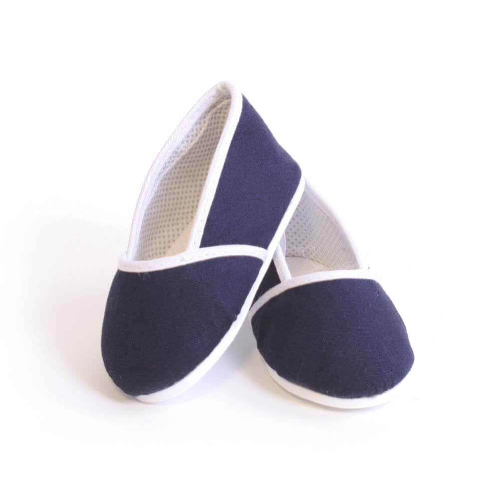 Navy Blue Canvas Slip-on Shoes