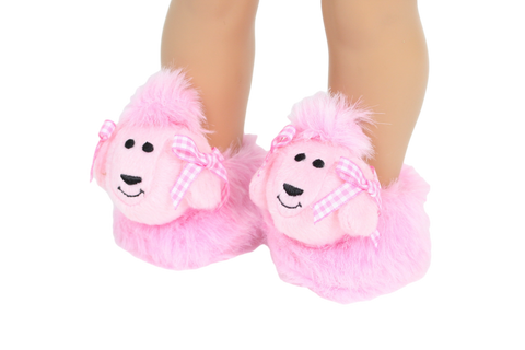 Pink Poodle Slippers