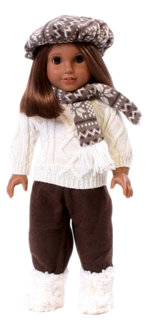 Brown Snowflake Sweater Outfit