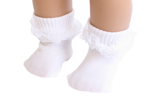 White color Socks with Lace
