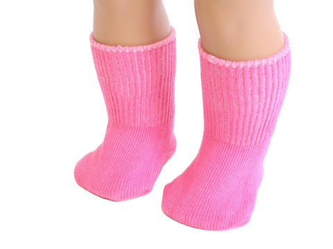 Hot Pink color Socks