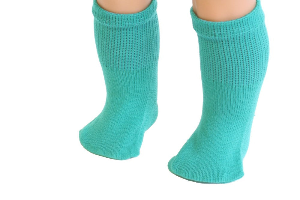 Teal Green color Socks