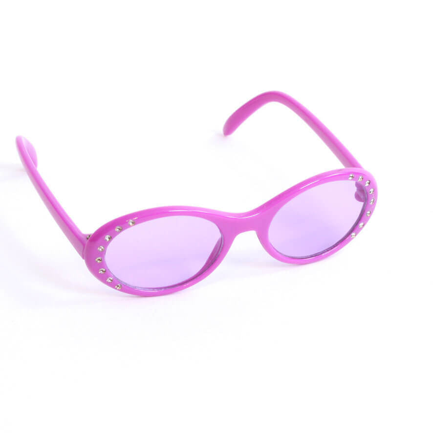 Purple Sunglasses w/ Rhinestones