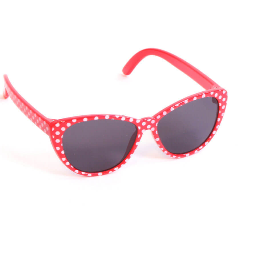 Red w/ White Polka-Dot Sunglasses