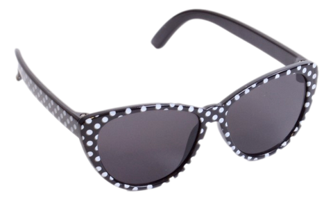 Black w/ White Polka-Dot Sunglasses