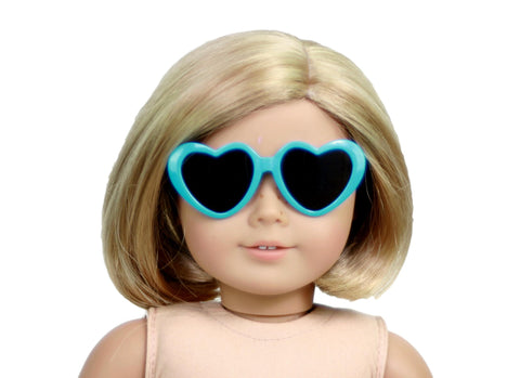 Blue Heart Shaped Sunglasses