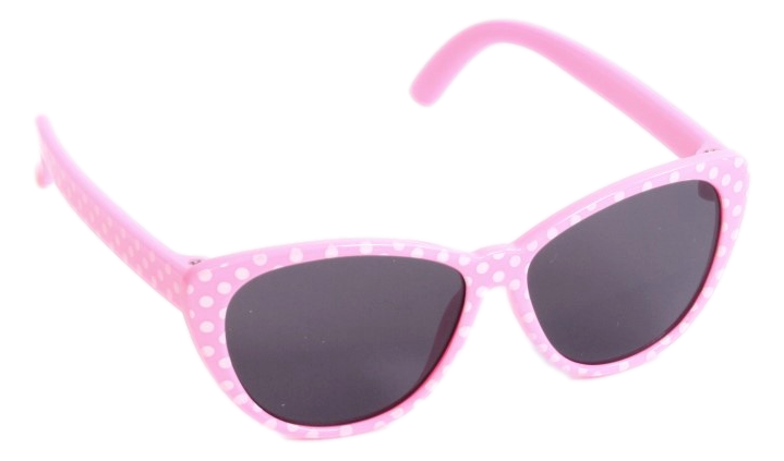 Pink w/ White Polka-Dot Sunglasses