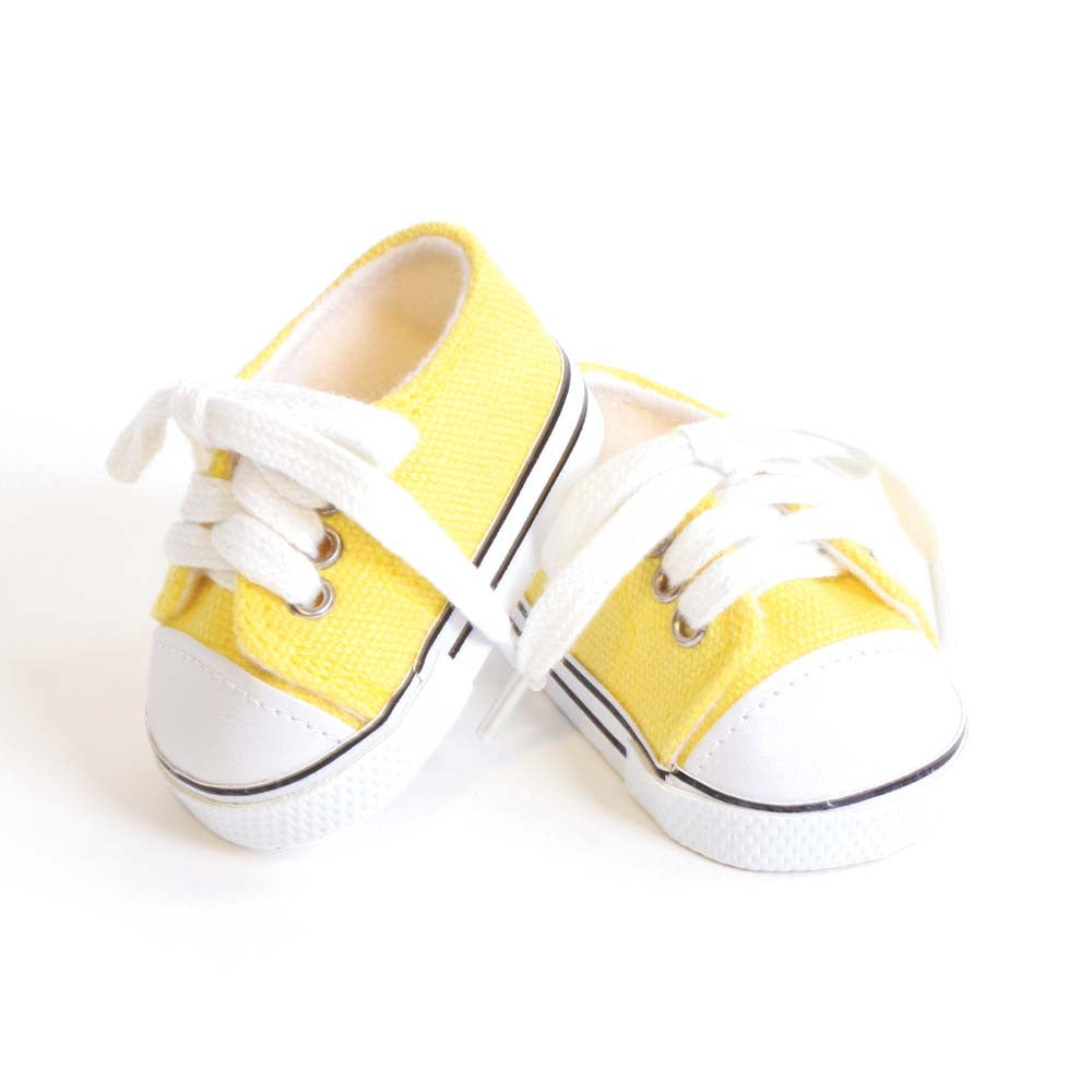 """Doll Clothes 18/"""" Sneakers Shoes Slip On Yellow Fits American Girl Dolls"""
