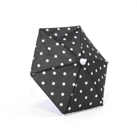 Black w/ White Polka-Dot Umbrella
