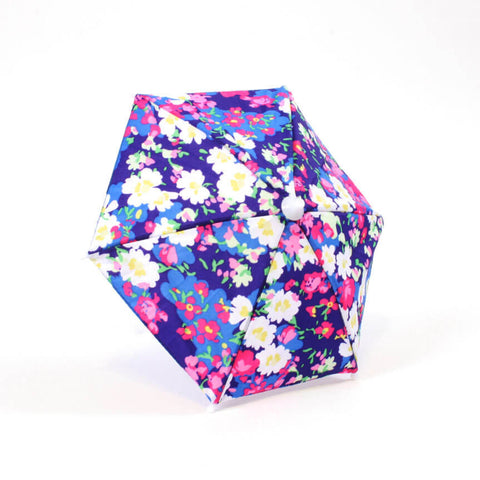 Blue Floral Print Umbrella