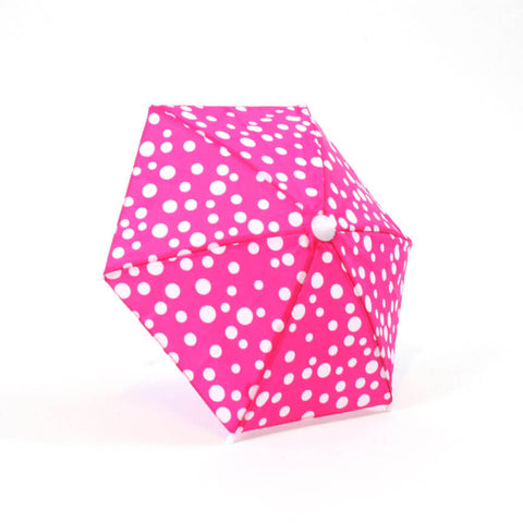 Hot Pink w/ White Polka-Dot Umbrella