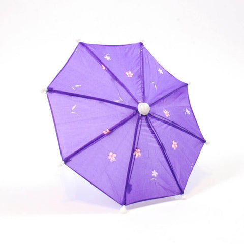 Purple Floral Print Umbrella