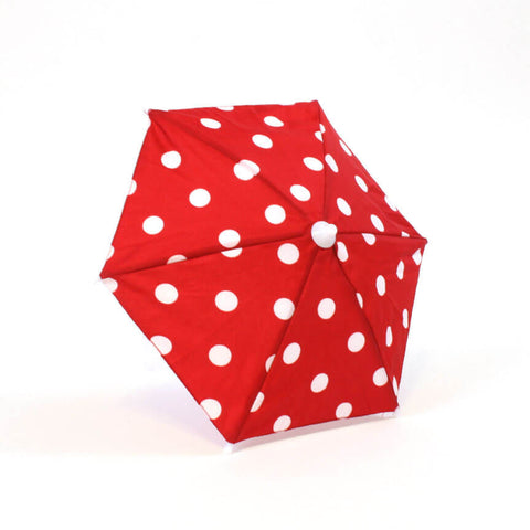 Red w/ White Polka-Dot Umbrella